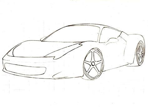 Dibujos Para Colorear De Carros Deportivos