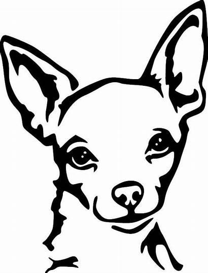 Chihuahua Dog Vinyl Stencil Decal Drawing Stencils