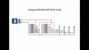 How To Check Ht12e  U0026 Ht12d Ic Working  Wired And Wireless