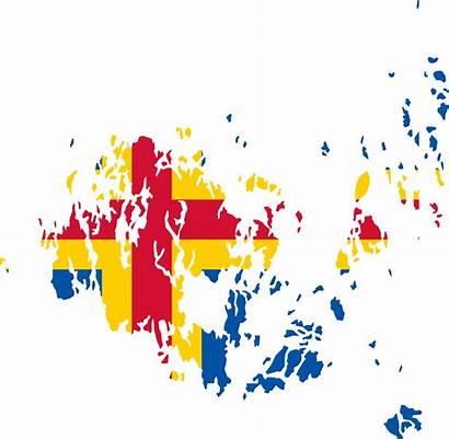 Aland Map Flag Svg Wikimedia Fil Commons