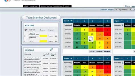 vue matrix project risk management software team member