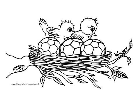 Escher Vogel Kleurplaat by Kleurplaten Vogels En Voetbal In Nest Kleurplaten Voor Jou