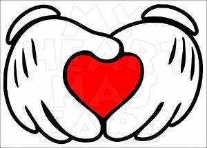 Mickey Mouse heart hands INSTANT DOWNLOAD digital clip art ...