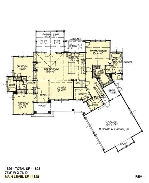 open ranch plan  angled garage donald gardner   garage house plans  house