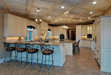 elegant long island kitchen design   large scale room