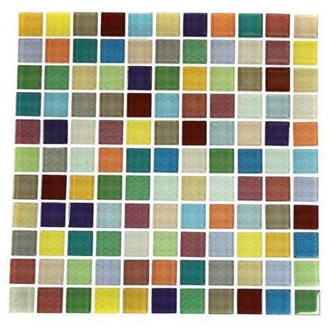 glass tile fruit platter 1x1 multi colored polished glass tile
