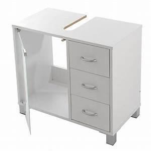 Waschbeckenunterschrank Mit 3 Schubladen Aus Weiem Holz