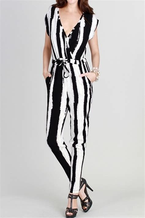 white and black jumpsuit black and white jumpsuit clothing