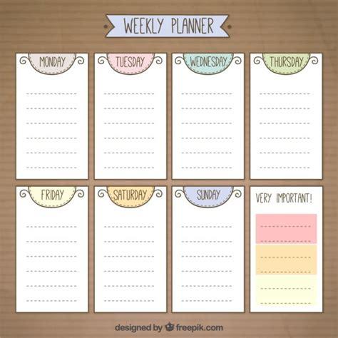 cute weekly planner  vector