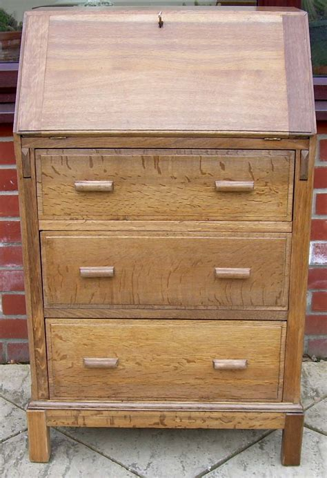 atlas bureau a golden oak deco bureau antiques atlas