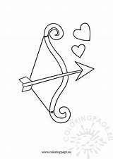 Arrow Bow Coloring Colouring Native sketch template