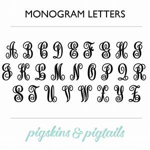 Single letter script decal for Script letter decals