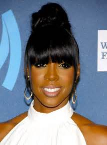 Black Women Ponytail Hairstyles with Bangs
