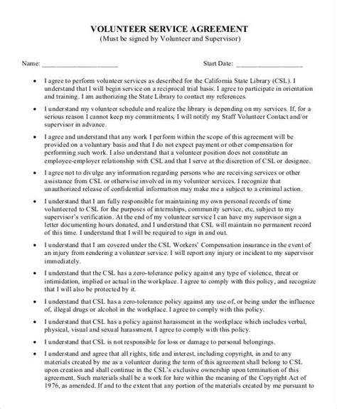 Personal Services Agreement Template by Service Agreement Template 10 Free Word Pdf Documents