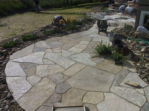flagstone patio installation flagstone portfolio lakeshores landscape