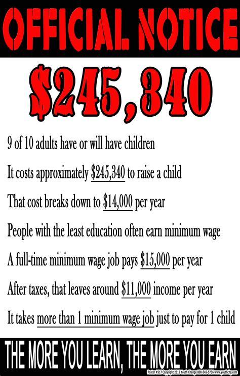 motivational classroom poster cost  raise child