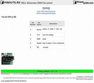Dell Dimension 9200 Fan Pinout Diagram   Pinouts Ru