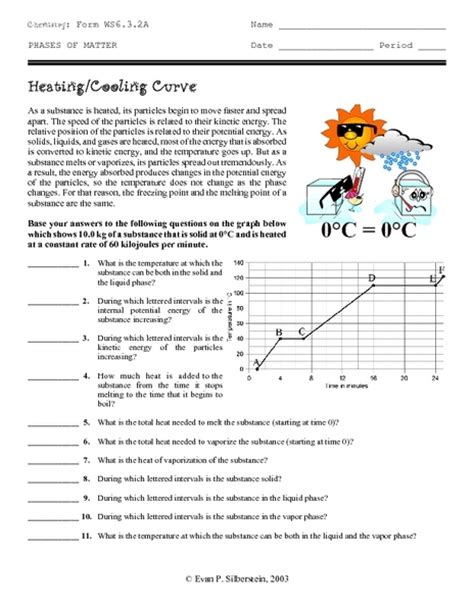 heating curve worksheet answers lesupercoin printables