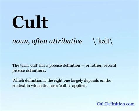 Cult Definition  What Is A Cult?