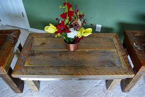 Reclaimed, Rustics, Rustic, Coffee, Table, U0026, Matching, End, Tables