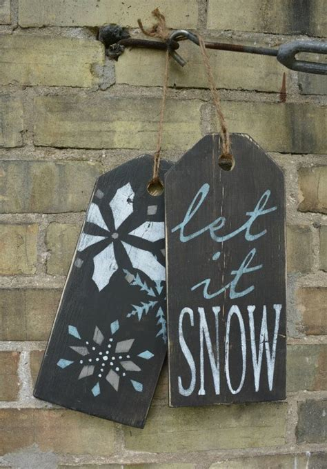rustic winter decor ideas  pinterest