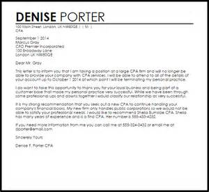 Financial Services Cover Letter Cpa Client Termination Letter Termination Letters Livecareer