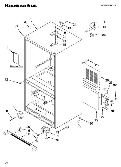 Kitchenaid Fridge Model Number by Kitchenaid Bottom Mount Refrigerator Parts Model