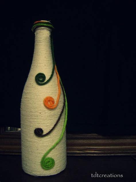 decorative wine bottles crafts upcycled handmade decorative bottle vase by tdtcreation on