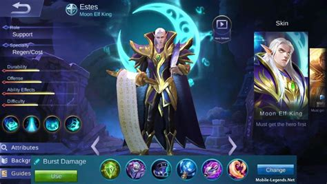 estes burst damage build  mobile legends