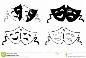 Theater masks stock vector. Illustration of circus, drama ...