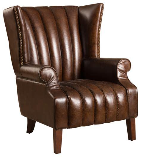 top grain leather club chair godfrey brown top grain leather club chair traditional 8548