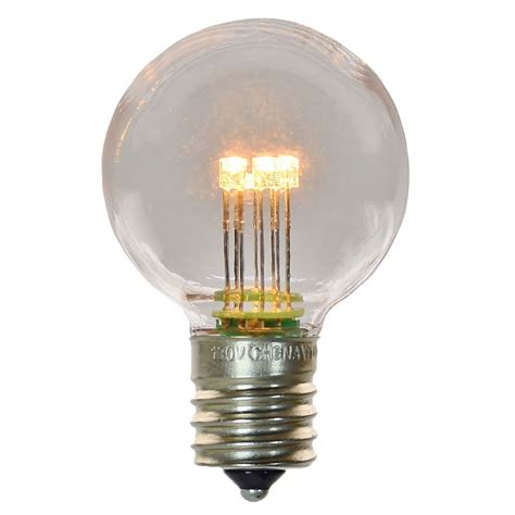 g40 e17 globe light bulb plastic