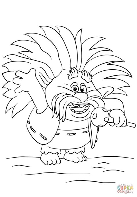 disegni da colorare trolls pdf king peppy from trolls coloring page free printable