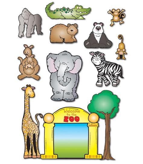 zoo friends bulletin board set carson dellosa publishing