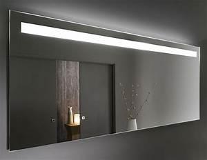 grand miroir led prallel 140 cm a 160 cm pour meubles de With carrelage adhesif salle de bain avec horloge led miroir