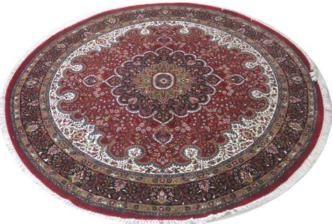 Round Persian Design Carpet Silk Jammu Rugs For Kitchen