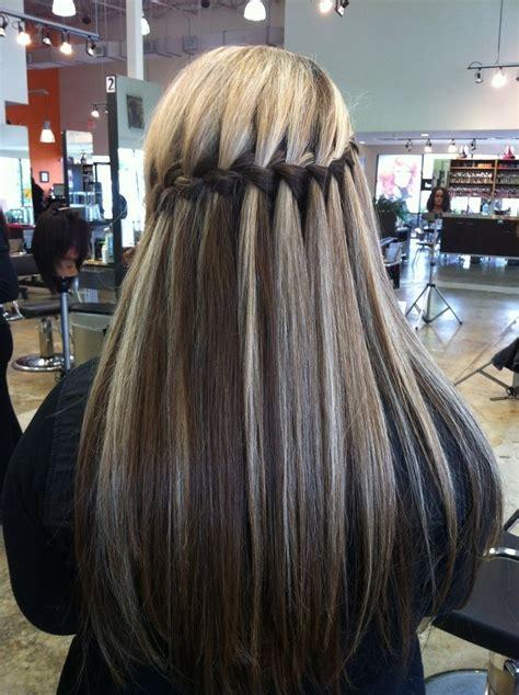 waterfall braids hairstyle ideas  long hair