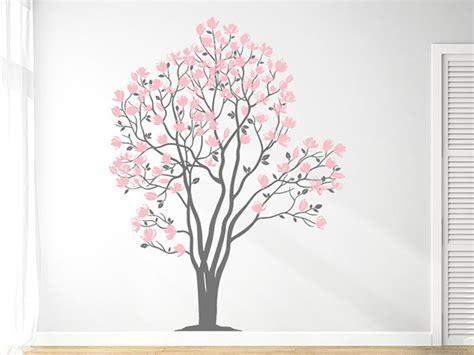 wandtattoo baum rosa wandtattoo magnolien baum wandtattoo wandtattoos de