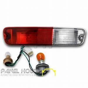 Mitsubishi Np Pajero Tail Light In Bar 02- U0026 39 06 Right Rh Rear Bumper Lamp  U0026 Wiring
