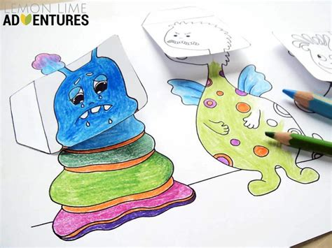 monstrous emotions printable simple emotions activity for 844 | 160606 MonstrousEmotions Tutorial 5 web