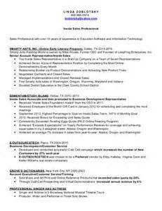 cold calling resume exles cold calling sales resume