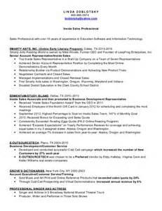 inside sales rep resume zoblotsky inside sales representative resume copy