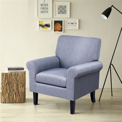 5% coupon applied at checkout save 5% with coupon. Gymax Fabirc Club Chair Accent Arm Chair Upholstered Single Sofa Living Room Furniture - Walmart ...