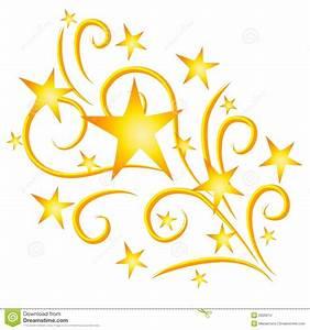 Shooting Stars Fireworks Gold Stock Photo - Image: 2926010 ...
