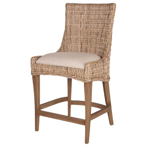 rattan bar stools with backs set of 2 wicker greco counter stool by orient express 7628