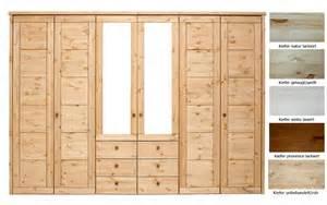 kleiderschrank massivholz massivholz schlafzimmerschrank 6türig kleiderschrank spiegel kassettenfront kiefer