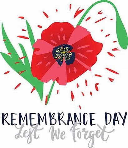 Remembrance Clip Forget Lest Canadian Illustrations Similar