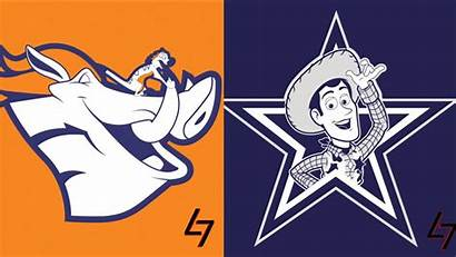 Nfl Logos Disney Classic Characters Team Mashup