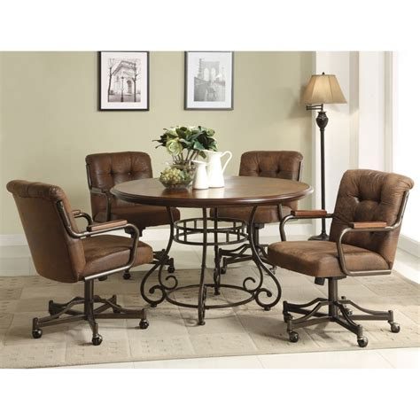 Kitchen Chairs Comfortable by Dining Room Chairs With Casters Leather Comfortable Dining