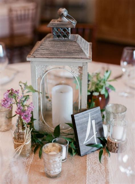 rustic wedding reception lantern  table number wedding